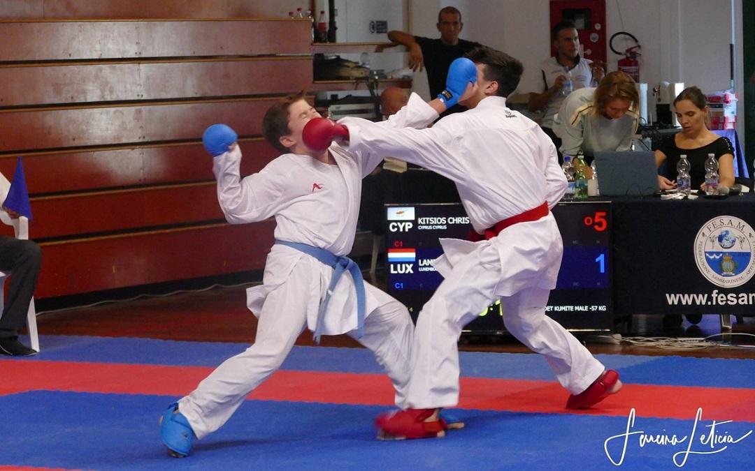 Karaté : Excellents résultats lors des 5èmes Championnats d'Europe des petits États
